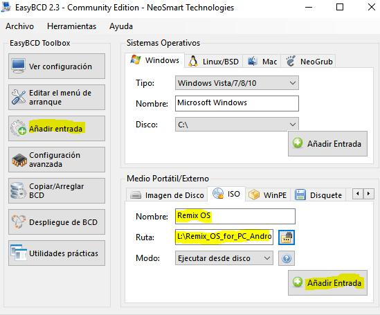 Remix OS configuración