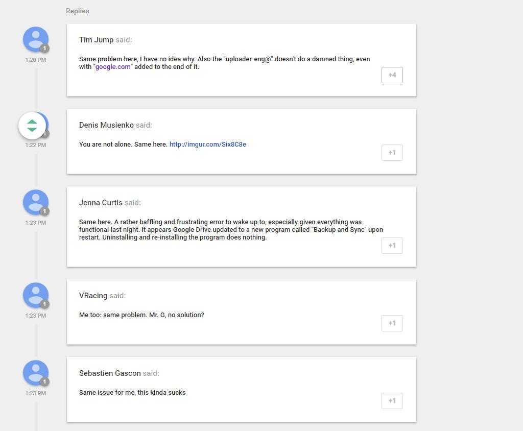 Google Drive Bugs