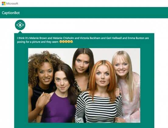 CaptionBot Spice Girls