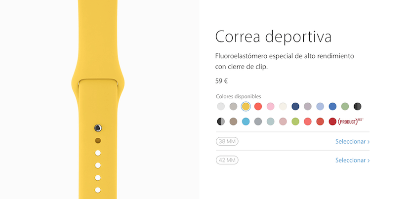 Correa fluoroelastómero amarilla