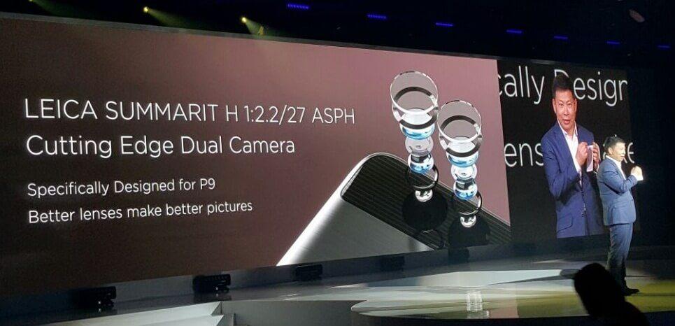 Detalle cámara Leica P9