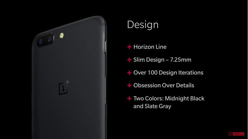 diseño OnePlus 5