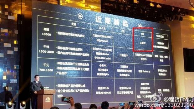 Fechas S7 Weibo