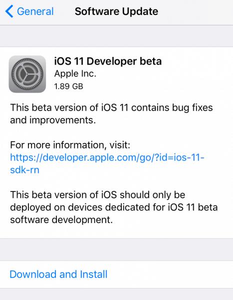 Instalar iOS 11 beta
