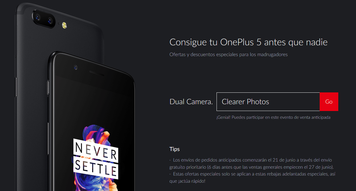código OnePlus 5