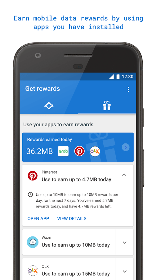 Google data Rewards