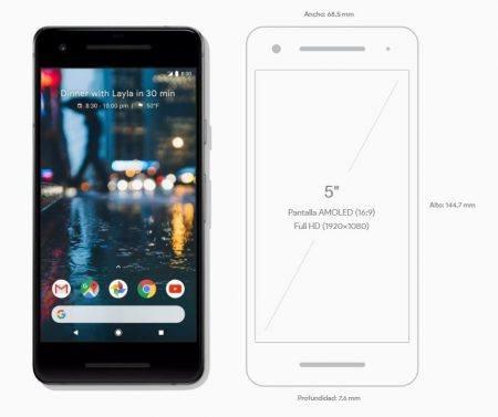 Google Pixel 2 Medidas