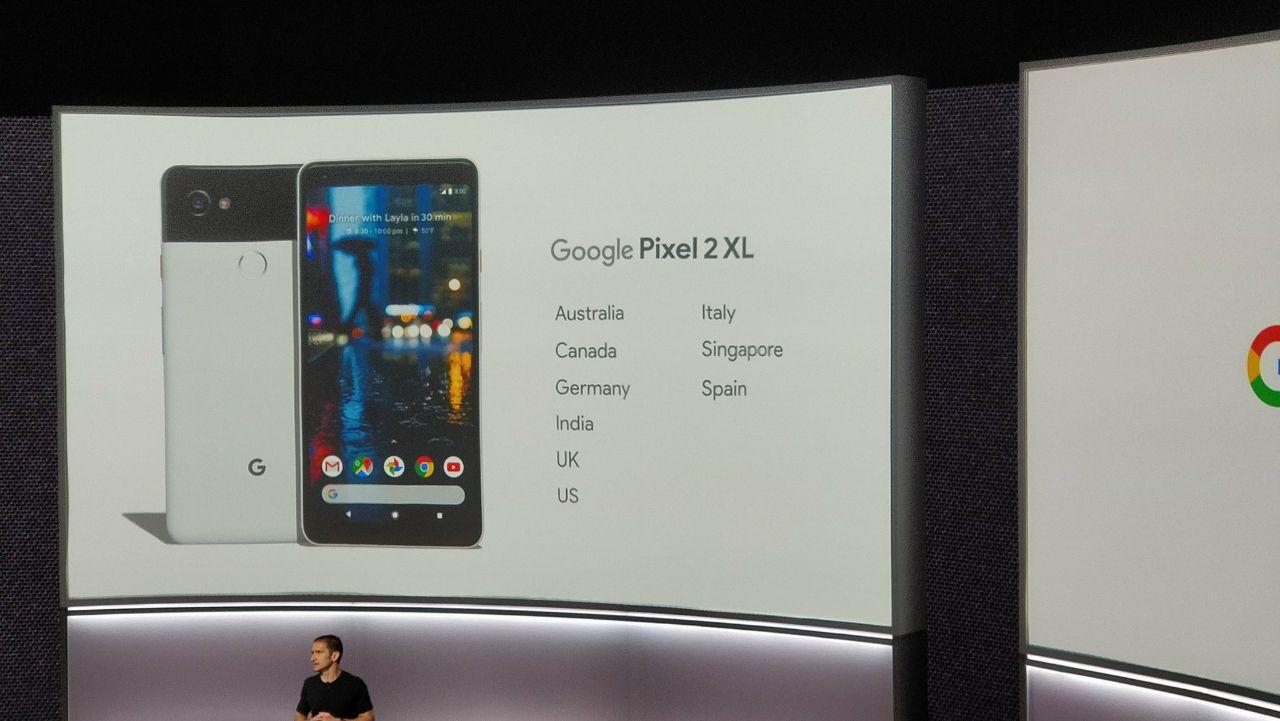Disponibilidad Google Pixel 2 XL