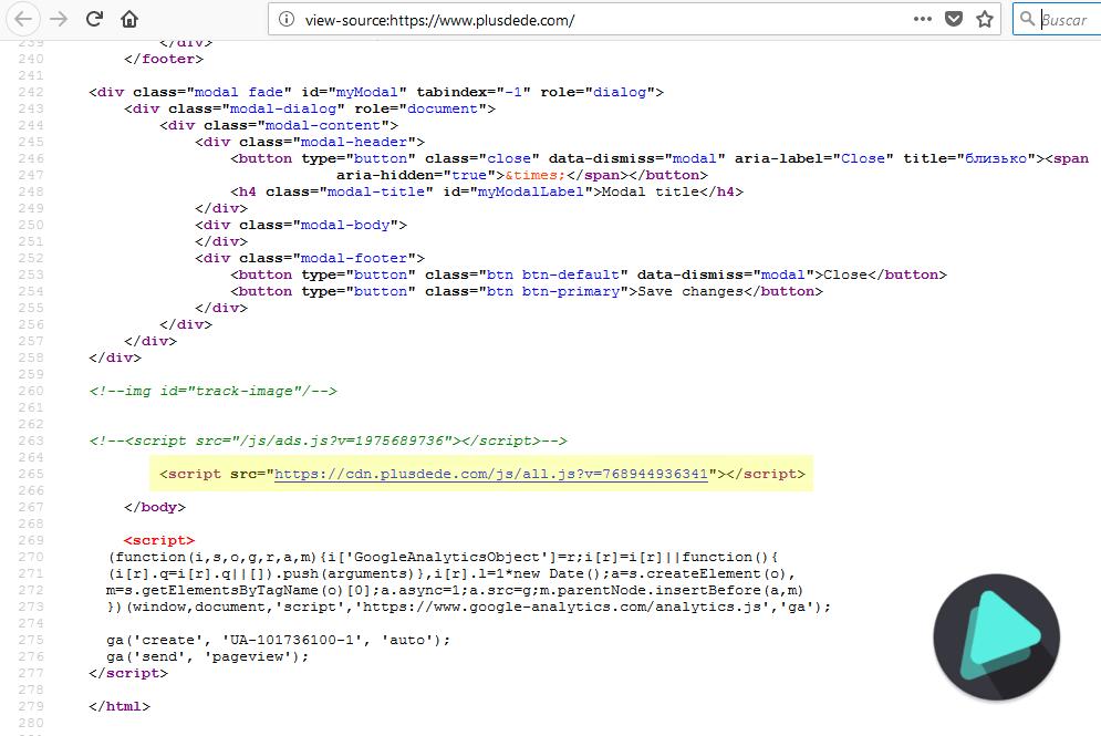 Código web pordede