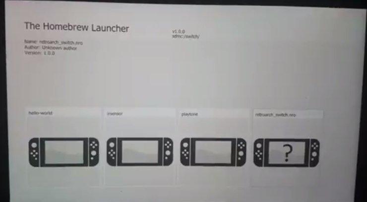 Nintendo Switch homebrew launcher 3.0.0