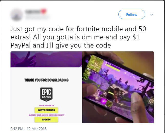 tweet-fornite-fake-codes