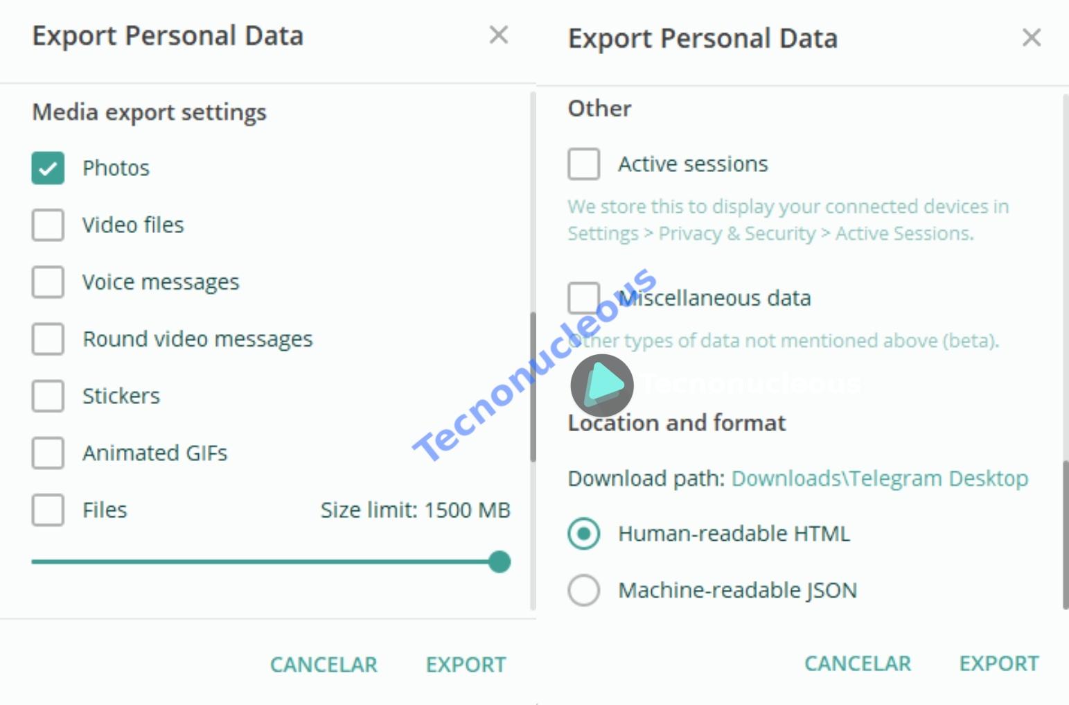 ajustes-exportar-datos-telegram