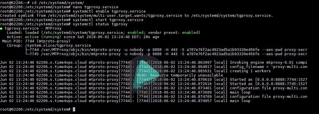 servicio-tgproxy