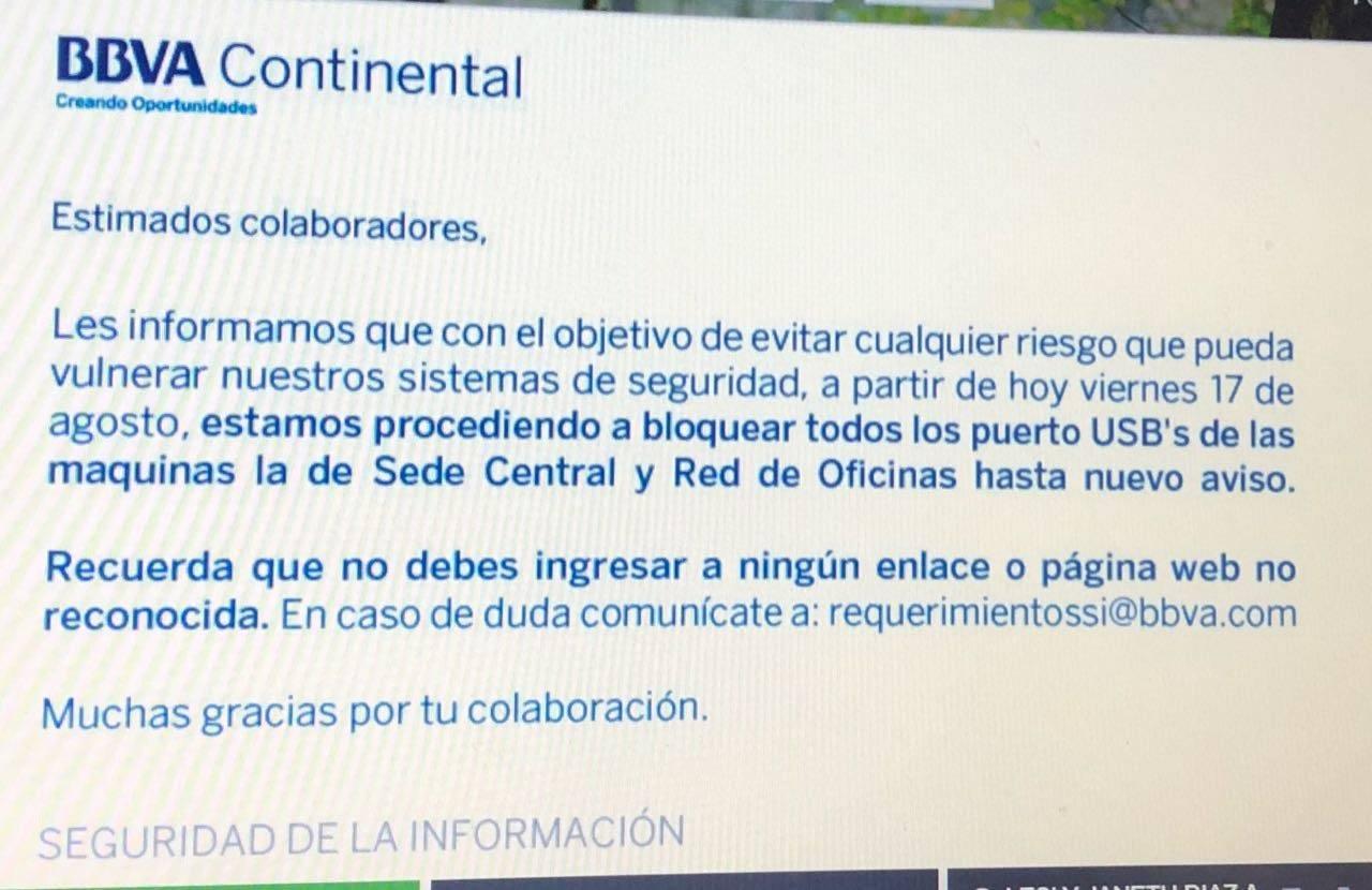 Per varios bancos sufren un ataque de ransomware segu info for Banco continental oficina principal