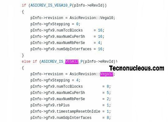 Vega 12 código fuente