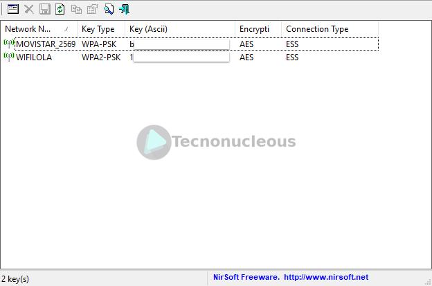 Programa-wirelesskeyview