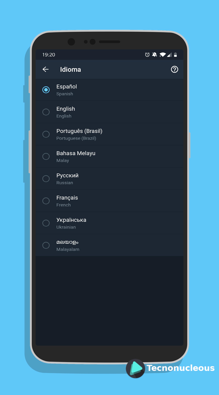 Idiomas Telegram X