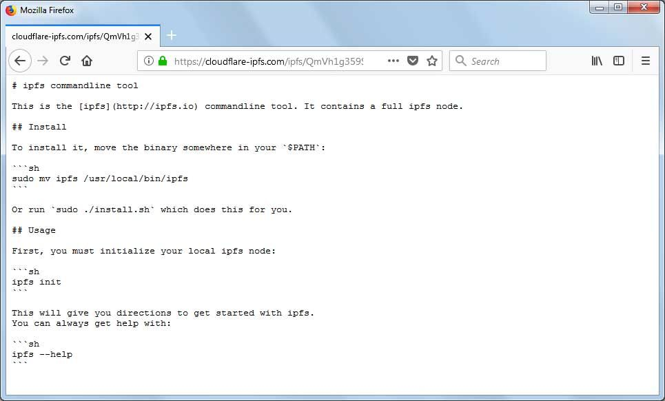 IPFS en el navegador