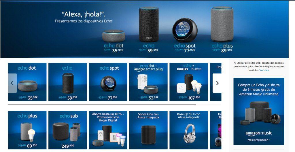 Los dispositivos Alexa llegan oficialmente a España