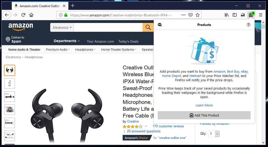 Price-Wise-extension-firefox