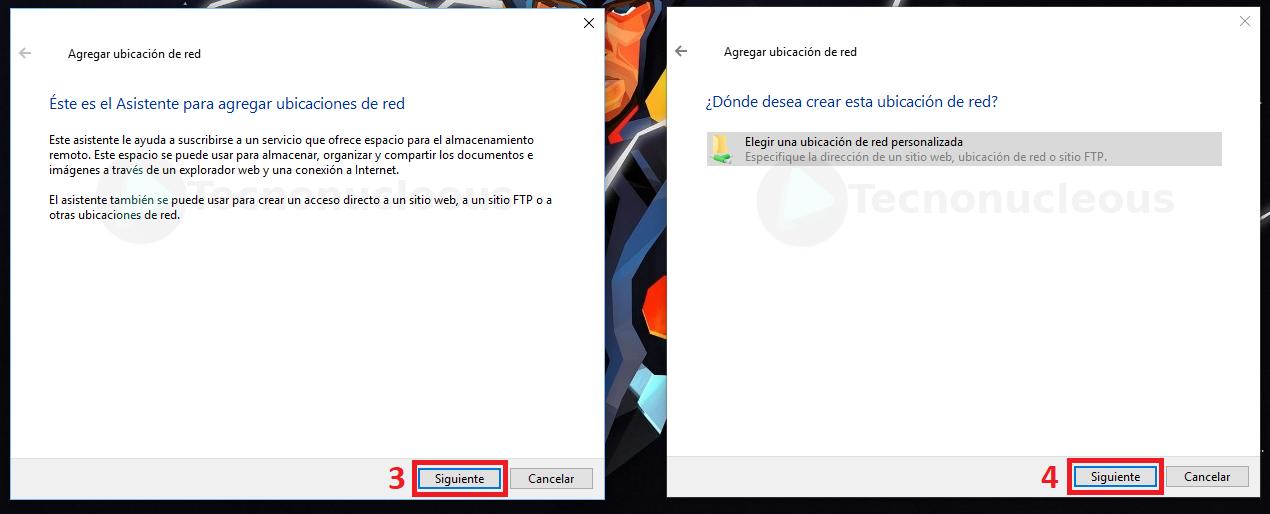 Agregar Ubicacion de red Windows10