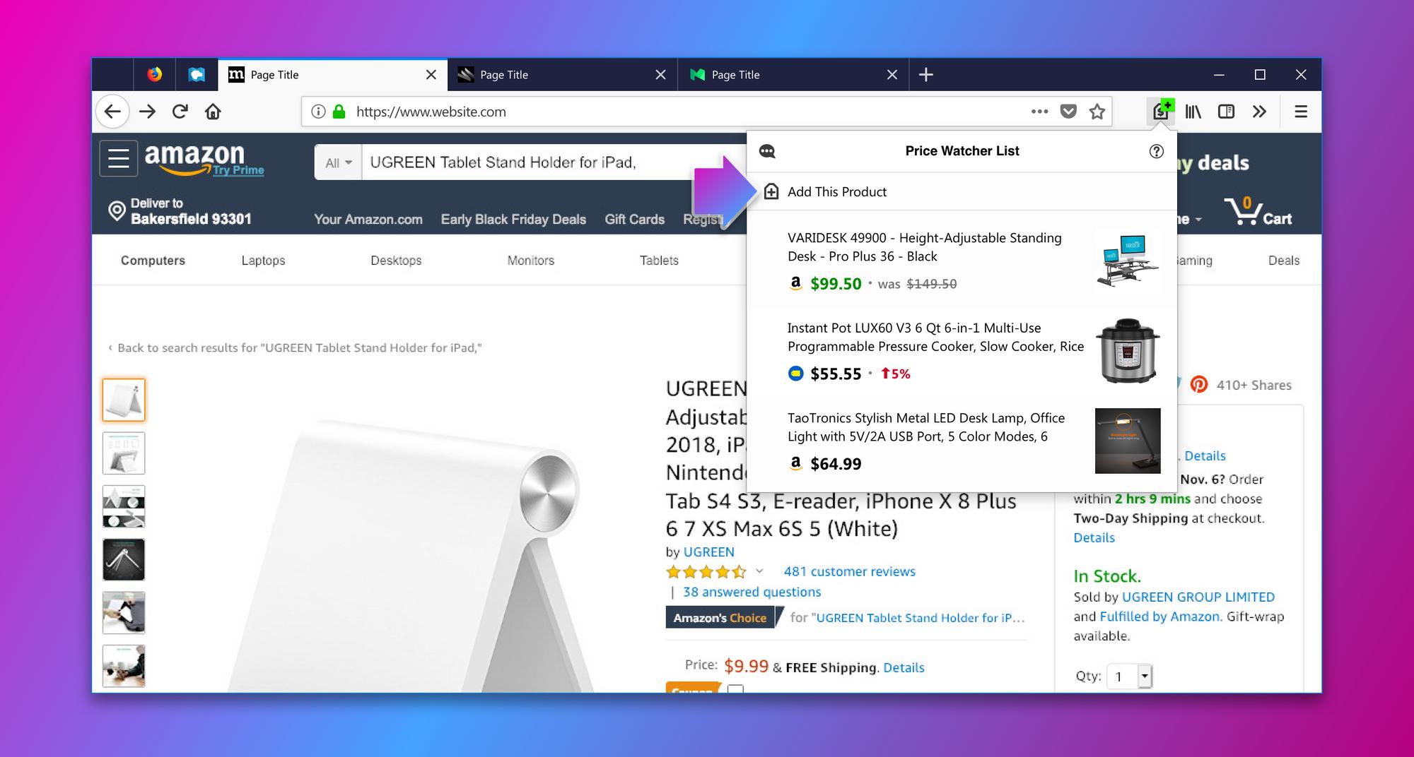 Price Wise: una extensión de Firefox para realizar un seguimiento de precios