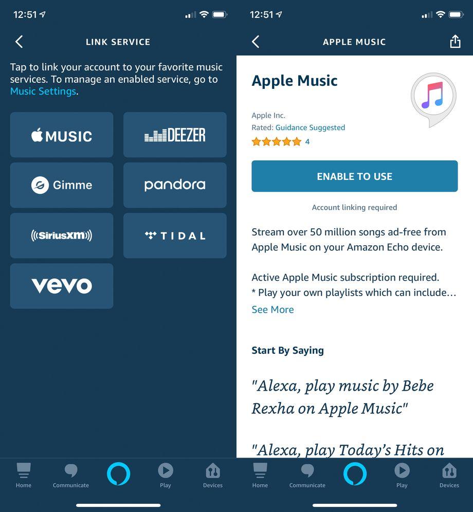 Apple Music en Alexa