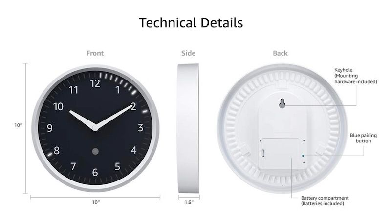 Echo Wall Clock especificaciones