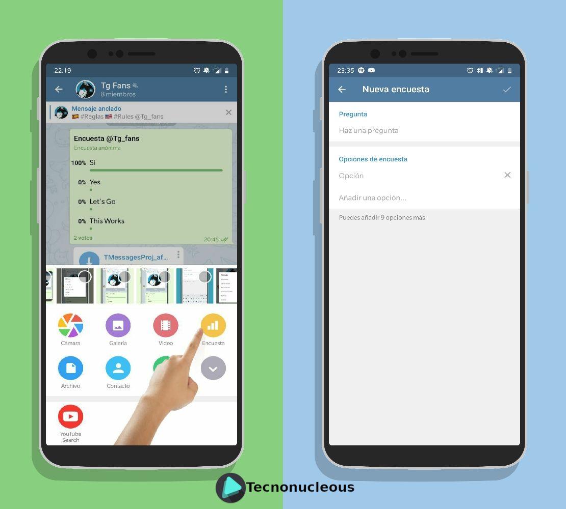 Crear Encuesta Telegram Android