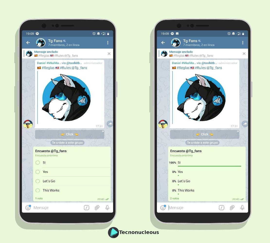 Encuesta activa en Telegram