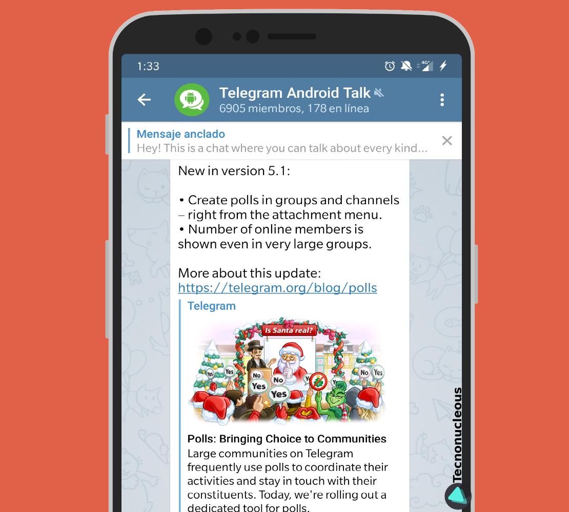 Usuarios en línea grupo Telegram