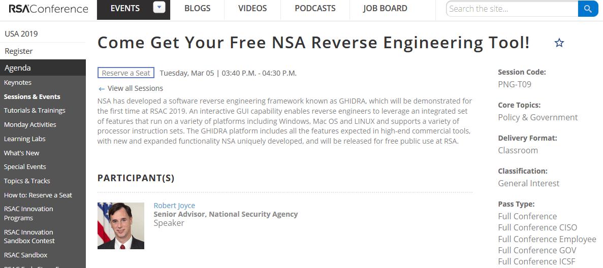 NSA-Ghidra-rsaconference
