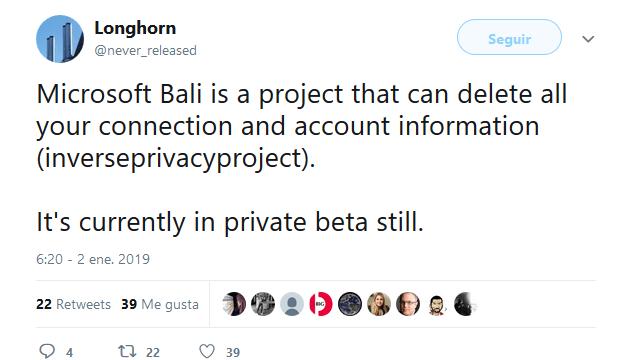 Microsoft Bali Twit Longhorn