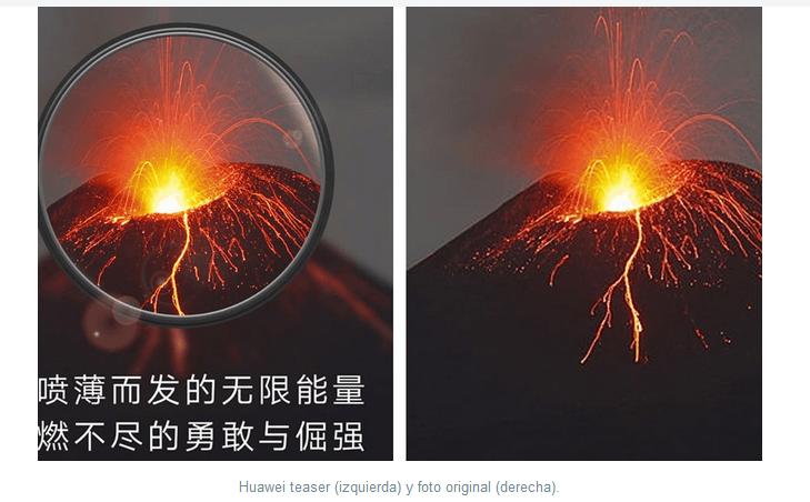 Foto promoción Huawei P30 Pro vs Foto Stock