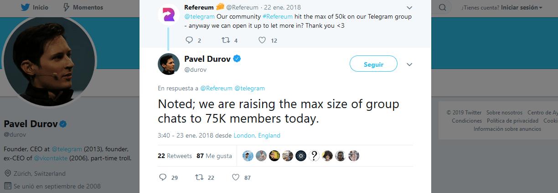 75k miembros supergrupos telegram