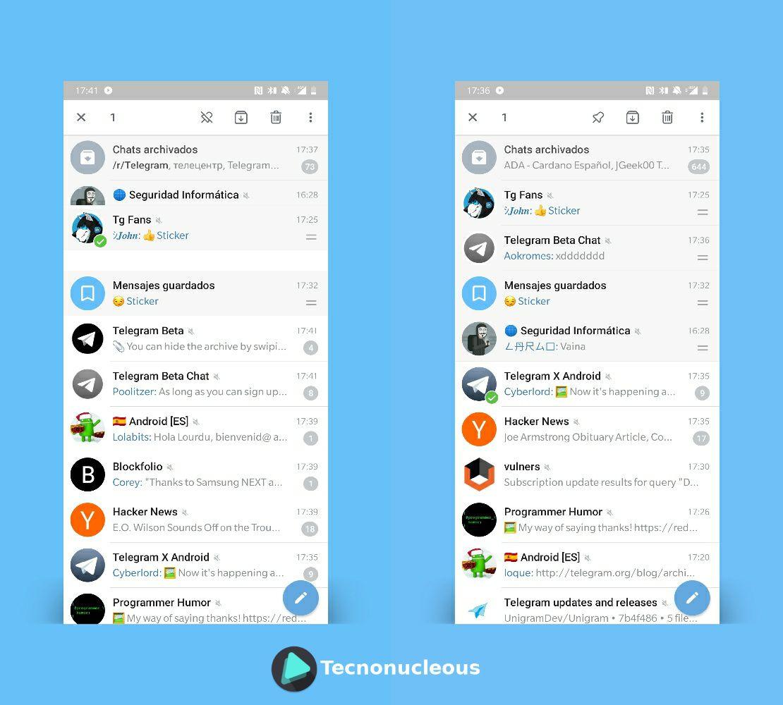 Rediseño Telegram 4.6