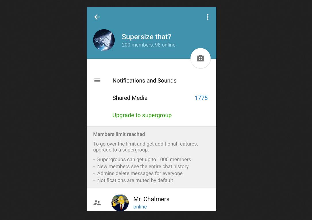 Convertir a Supergrupo