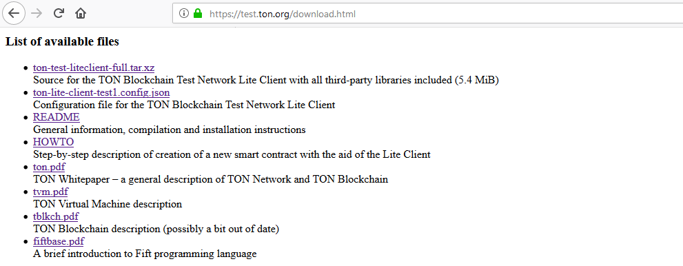 Ton Telegram Beta Testnet files