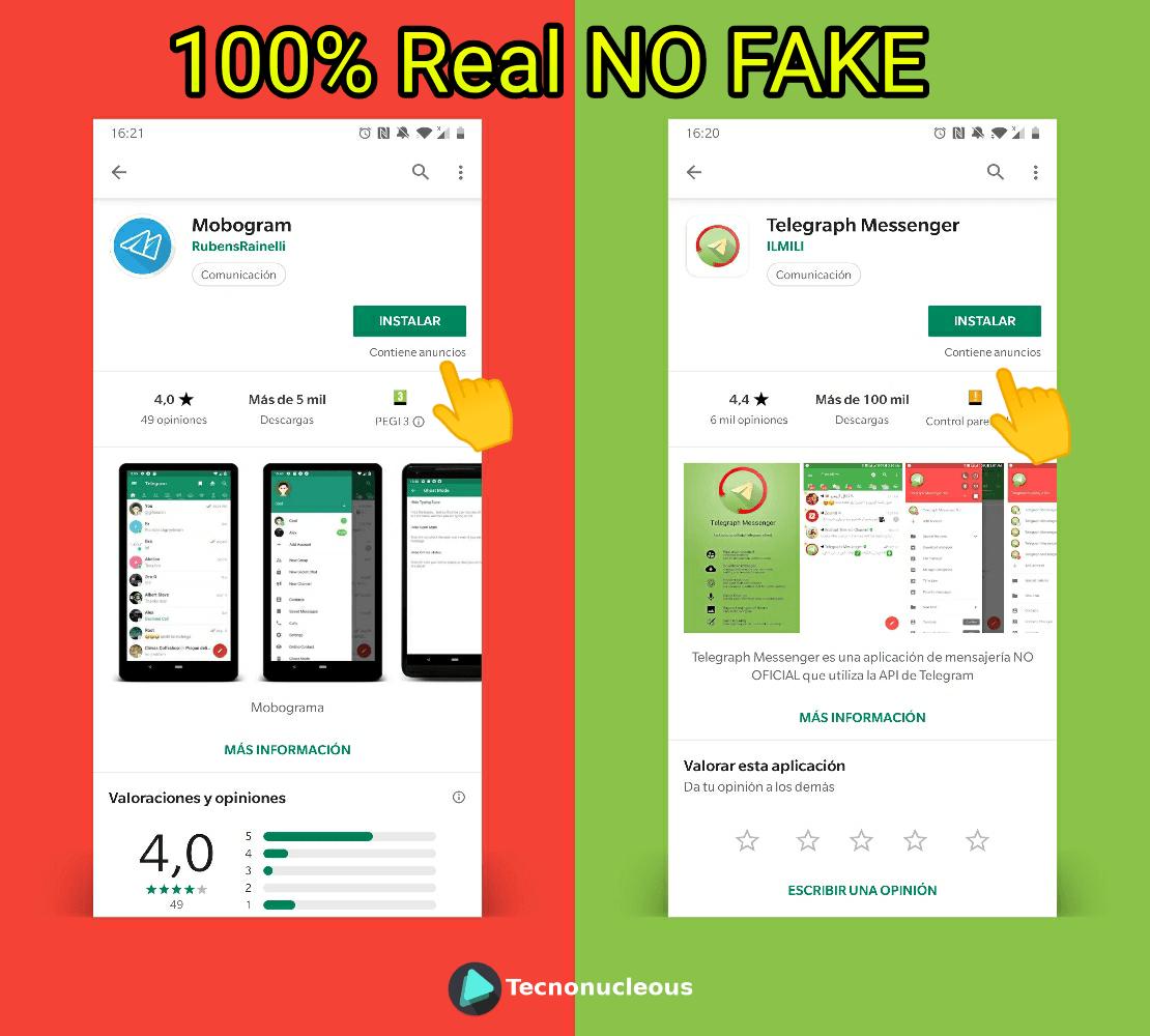 Anuncios Apps Terceros Telegram