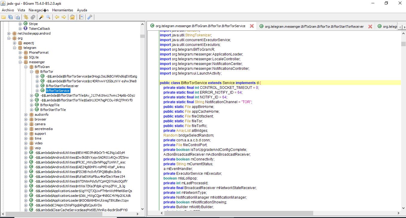 Paquete BiftorTorService en Bgram