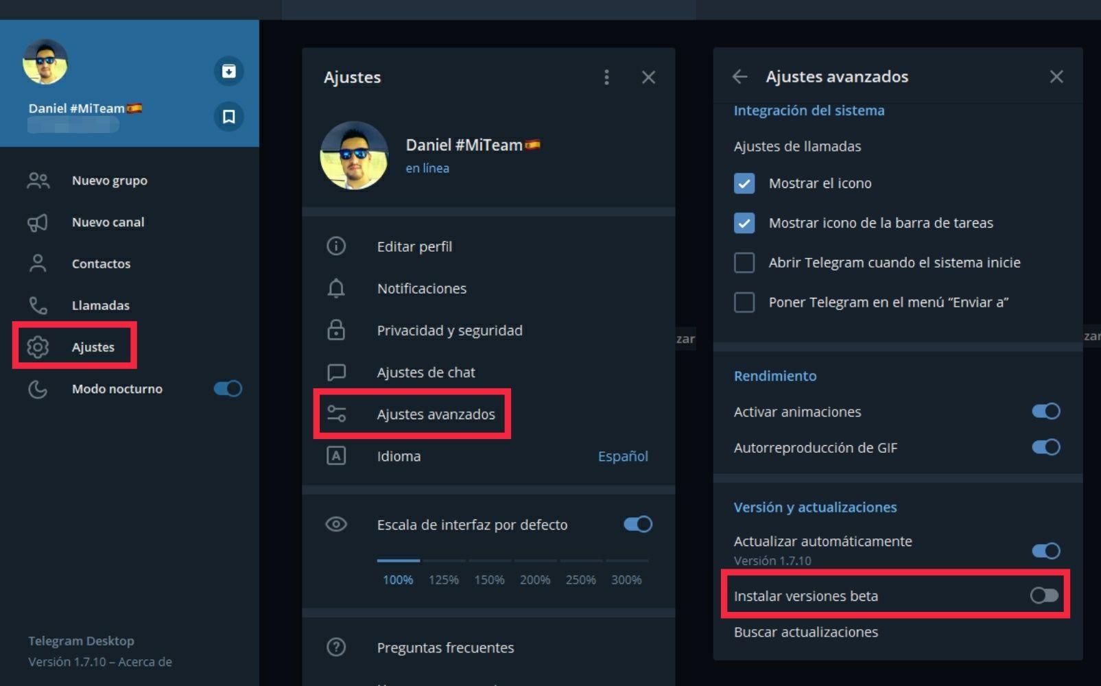 Telegram Desktop Beta