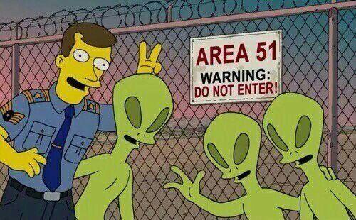 Los Simpsons Zona 51 Meme