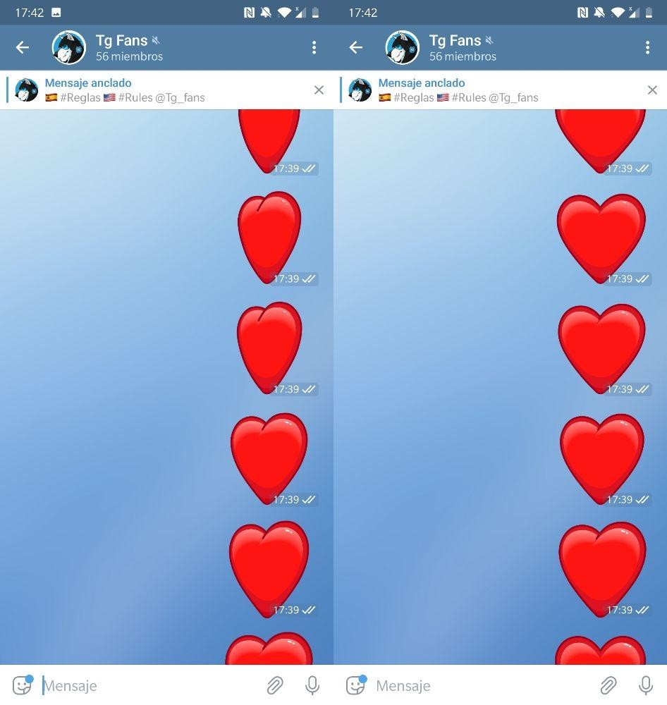 Corazones Telegram 5.10 vibracion