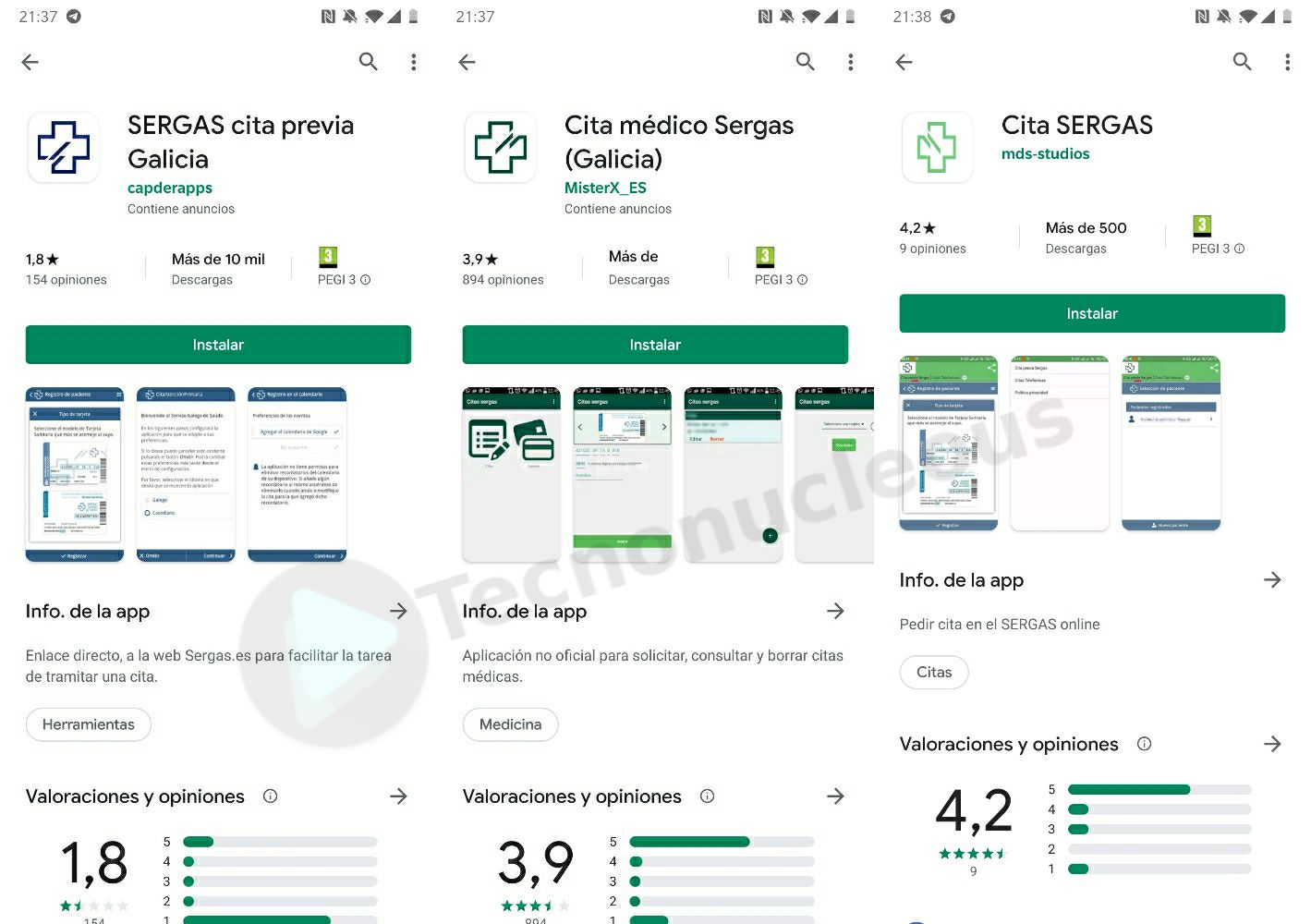 Apps falsas sergas Google Play