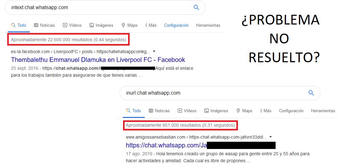 Link grupos de WhatsApp en los resultados del buscador