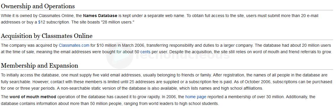 Name database 2006 Wikipedia