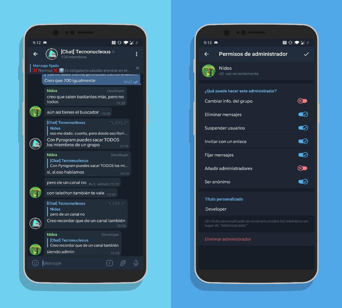 Telegram 7.1 admin anónimo