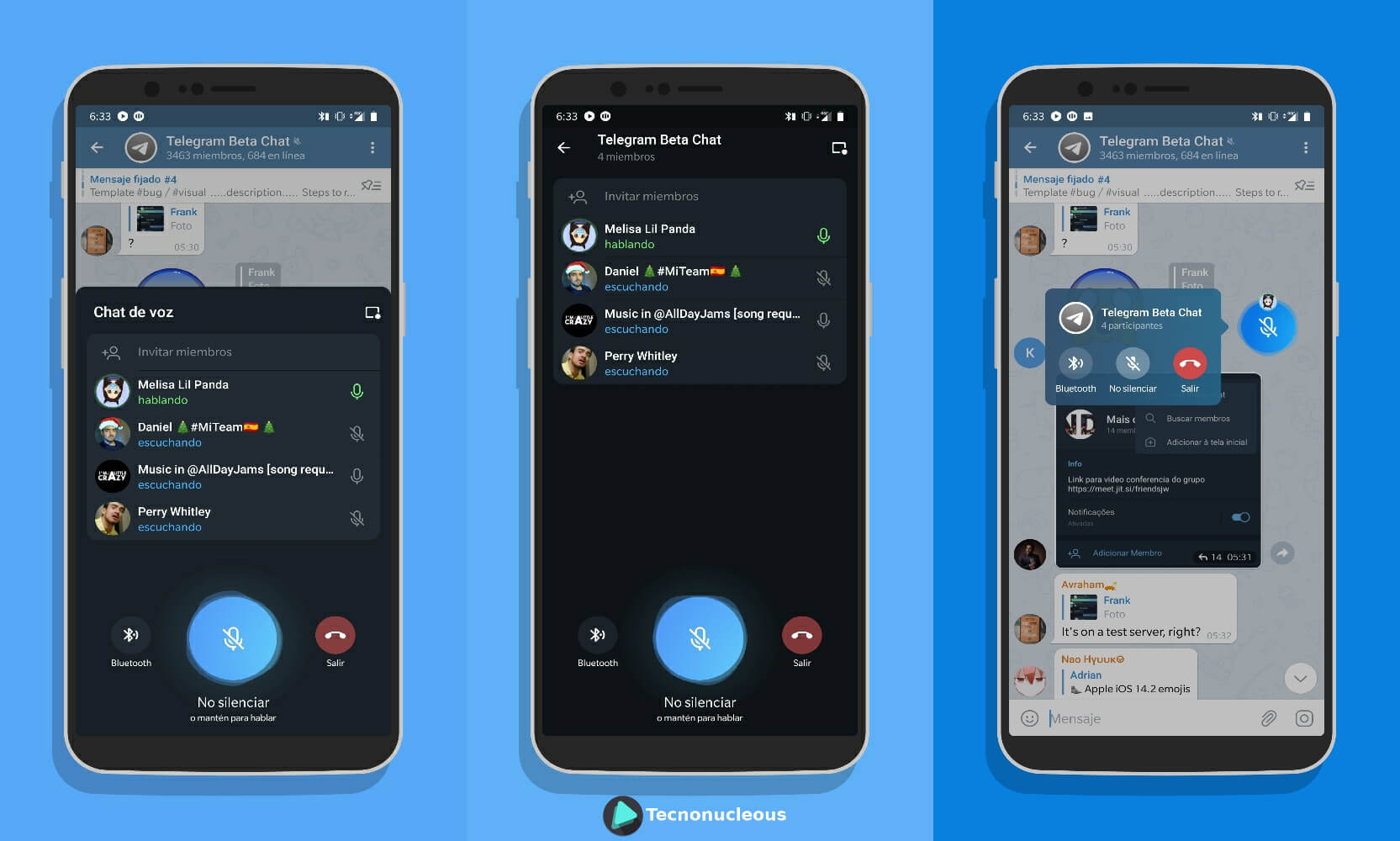 Interfaz Chat de Voz Telegram 7.3