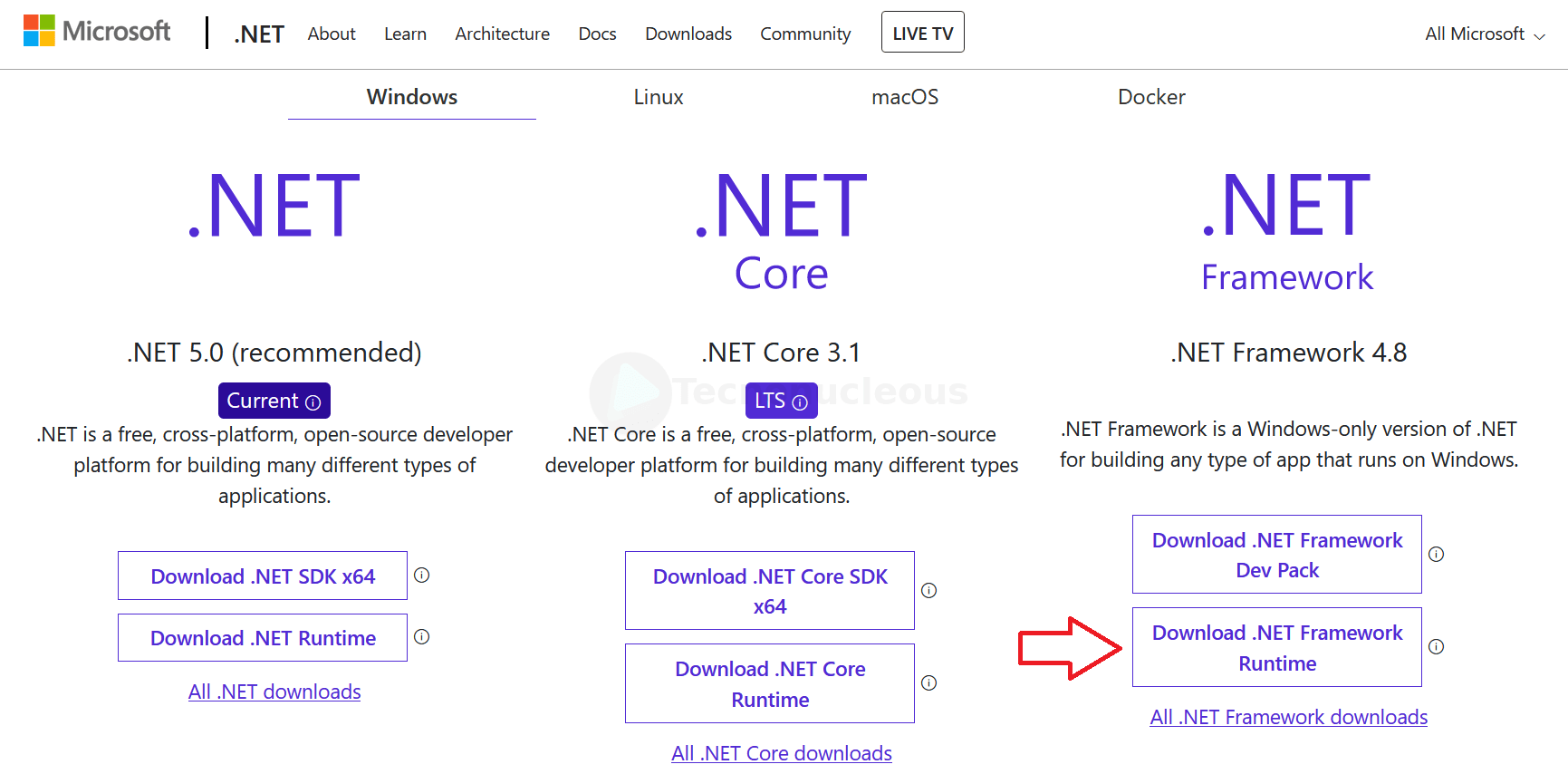 Descargar NET Framework Windows 10