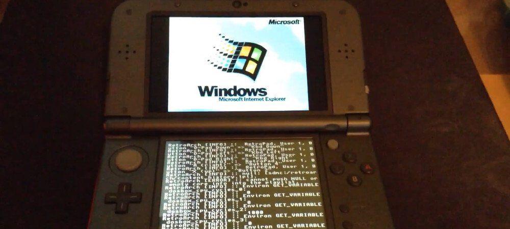 Consiguen ejecutar Windows 95 en una Nintendo 3DS